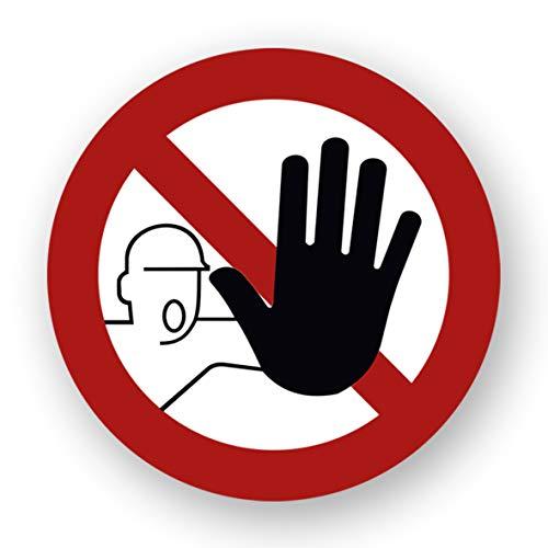 10 Stück Zutritt verboten Aufkleber Verbotszeichen für unbefugte Personen Gebotszeichen mit UV Schutz Warnzeichen für Außenbereich Innenbereich kein Durchgang von STROBO 9,5 x 9,5 cm