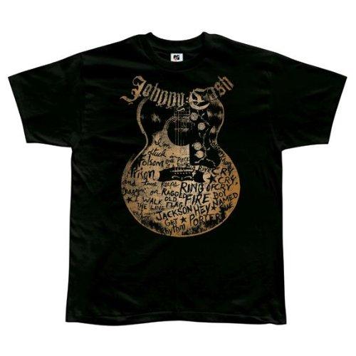 Old Glory Johnny Cash - heren liedjes op gitaar zacht T-shirt
