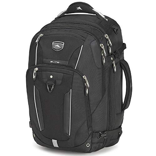 High Sierra Elite Weekender Convertible Travel Backpack, Black