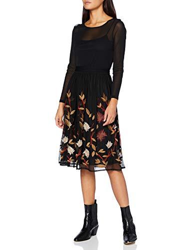 ESPRIT Collection Damen 080EO1E317 Kleid, 001/BLACK, L