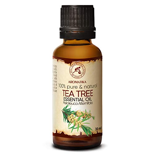 Aceite Esencial de Arbol de Te 30ml Botella - Australia - 100% Puro y Natural - Ideal para la Belleza - Aromaterapia - Difusor - Lampara de Aroma - Cosmeticos - Tea Tree Essential Oil