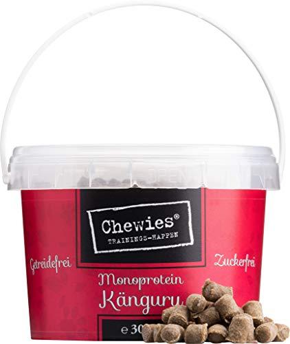 Chewies Trainingshappen Känguru - Monoprotein Snack für Hunde - 300 g - getreidefrei & zuckerfrei - Softe Leckerlies fürs Hundetraining - hypoallergen