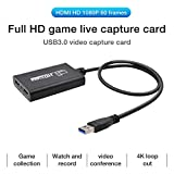 Video-Aufnahmegeräte, HDMI auf USB 3.0 Full HD Videoaufnahmekarte, Live-Videoaufnahme,...