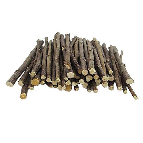 Oncpcare Palos de árbol de manzana, 800 g, bocadillos de madera molar orgánicos naturales, juguetes para masticar animales pequeños para cobayas, chinchilla, ardilla, conejo, ratas