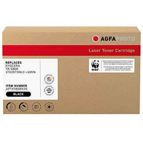 AgfaPhoto Laser Toner ersetzt Kyocera TK-580K; 1T02KT0NL0 +185prozent, 10000 Seiten, schwarz (für die Nutzung in Kyocera FS C5150)