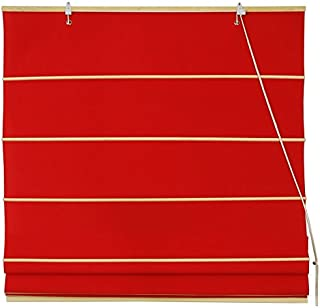 Oriental Furniture Cotton Roman Shades - Red - (36 in. x 72 in.)