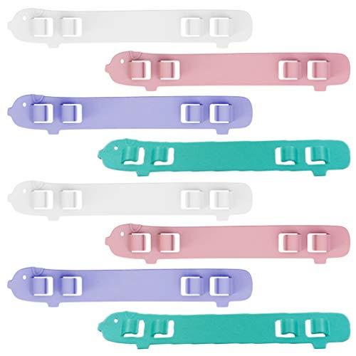 EXCEART 8 Pièces Couverture de Visage Sangle Extender Anti-Dérapant Poignées Doreille Protecteur Sangle Accessoires Poignées Doreille Extension Crochets Bande Réglable (Couleur Aléatoire)