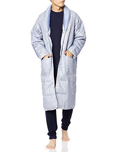 [グンゼ] ルームウェア 羽毛 ガウン メンズ ブルー (Newモデル) M