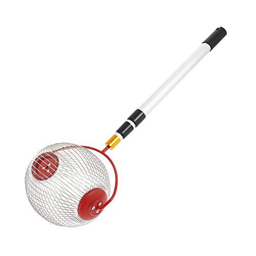 Keyohome Nuss Mähdrescher Ball Picker und Nusssammler, Obstsammler Nusssammler Kugelpflücker mit Stiel, aus Edelstahl,für Golfbälle,Tennisbälle