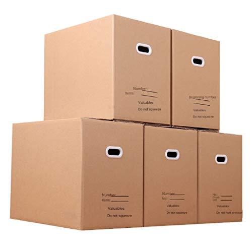 FLAMEER 5 Versand Wellpappenschachteln 18x12x15 Zoll, Bewegliche Verpackungsschachteln