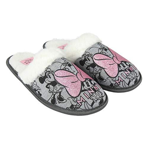 Cerdá Artesanía 2300004613 Zapatillas de estar por casa abierta Minnie Mouse (40-41)