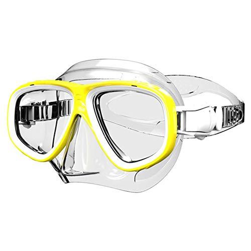 Gafas De Natación, Antiniebla Gafas Natacion, Protección UV Sin Fugas, Gafas para Nadar para Adulto Hombre, para Mujeres, Hombres Y Adolescentes A Partir De 10 Años (Color : Yellow)