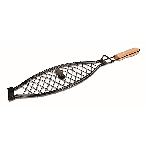 Jim Beam Grillzubehör, Grillkorb für große Fische JB0116, schwarz, 44.3x14.7x3 cm, 700540