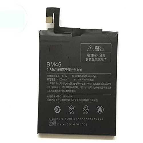 Todobarato24h Bateria Compatible con Xiaomi redmi Note 3, Note 3 Pro 4000 mAh Voltaje 4.4v BM46