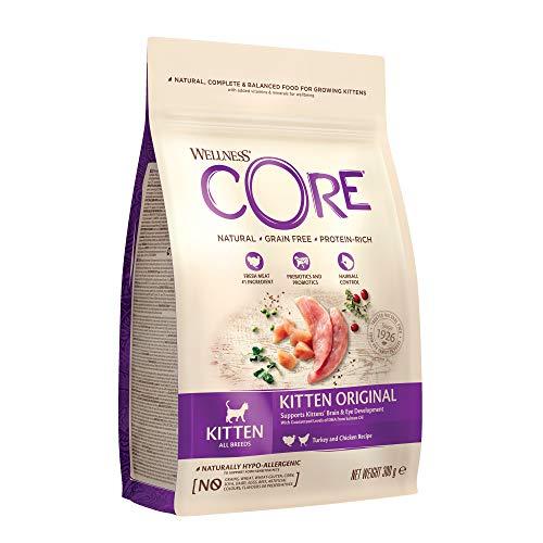 Wellness CORE Kitten Original, Trockenfutter für Kätzchen, getreidefrei, hoher Fleischanteil, Huhn & Pute, 300 g