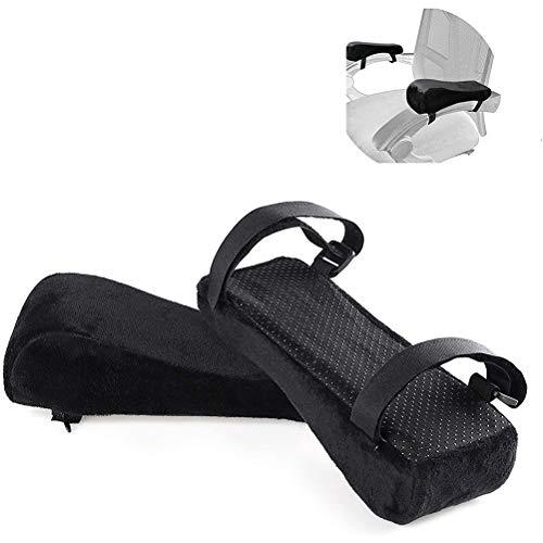 ruixin Armlehnenpolster für Stühle (2er-Pack), Armlehnenpolster für Bürostühle mit Memory Foam-Ellbogenkissen zur Druckentlastung des Unterarms, Sesselbezüge für Bürostühle, Rollstuhl, bequemer