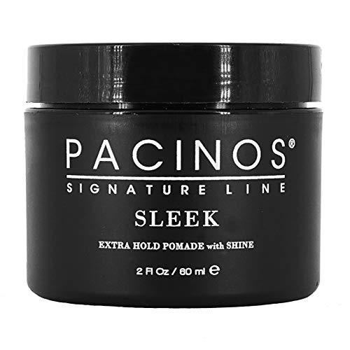 Pacinos Sleek 2oz, Signature Extra Hold Pomade with Shine, Long Lasting Definition, Perfect for All Hair Types to Create a Natural Looking Hairstyle