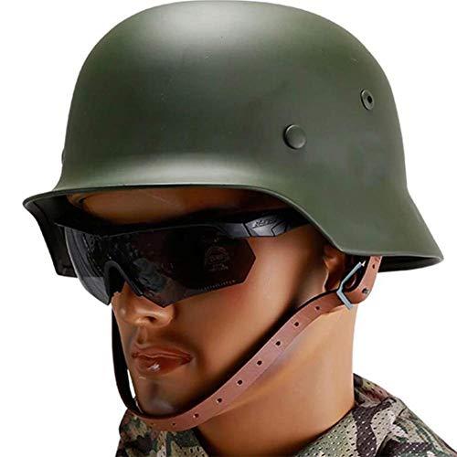DYHQQ Grüner WW2 Stahlhelm der Deutschen Elite-Armee M35 M1935 Stahlhelmt