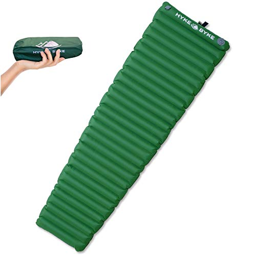 Sleeping Pad for Camping - Inflatable Mattress for Backpacking - Air Adjustment Valves - Non Foam & Non Insulated Mat - Standard & Ultralight Sizes - Made for Adventure by Hyke & Byke