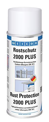 Weicon 11013400 Silbergrau Rostschutz 2000 Plus 400ml Metallschutz vor Korrosion und Rost