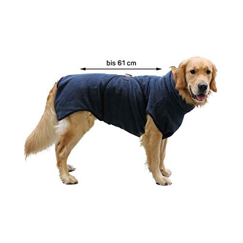 Wallace & Jones ®   Hundebademantel   bis ca.61 cm   Trockenmantel   Grau