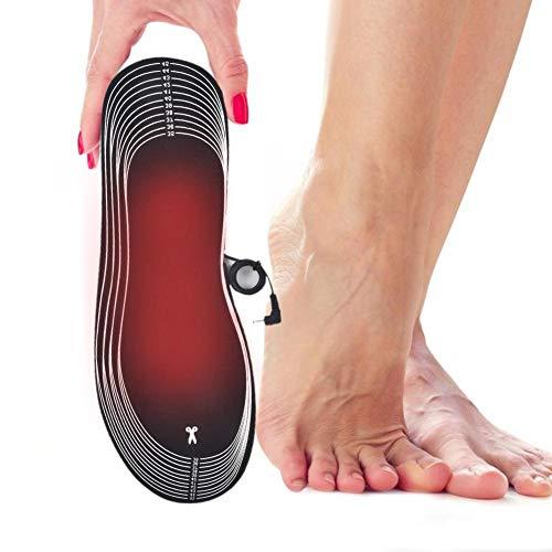 1 Paar Beheizte Einlegesohlen USB Electric Thermal Soles Winter Fußwärmer Füße Wärme Halten Pads Unisex Wiederaufladbare Multifunktionale Einlegesohle Für Die Winterjagd Angeln Wandern, Größe 35-45