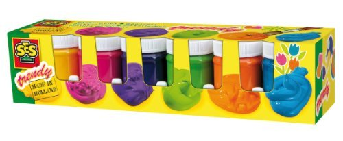 SES Creative Children's Trendy Poster Paint, Set of 6 Colors by