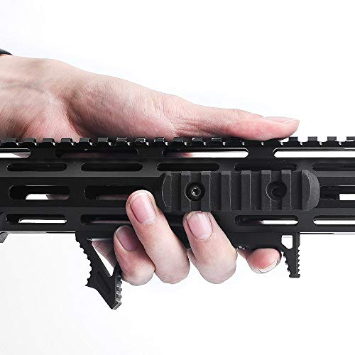 WADSN Tactical Aluminum M-lok Link Curved Foregrip Airsoft Hand Stop Gun Accessories,Universal Type for Rail System Weapon Tactical Armas Rifle Hunting Airsoft Handguard Front Grip