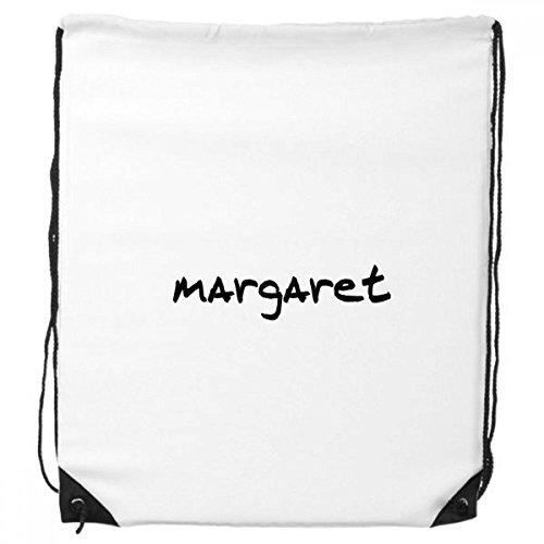 Speciale Handschrift Engels Naam MARGARET Trekkoord Rugzak Winkelen Handtas Gift Sport Tassen
