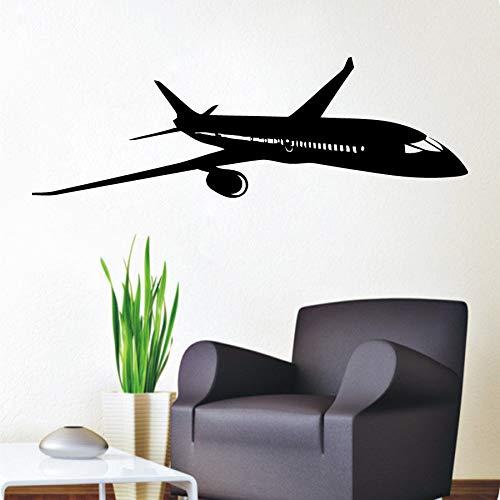 Décoration de la maison Stickers Muraux Avion Avion Crop Avion G6 Boing Décalque de Vinyle Autocollant Vinyll Courbe AVANT Mur Murale 20X66CM