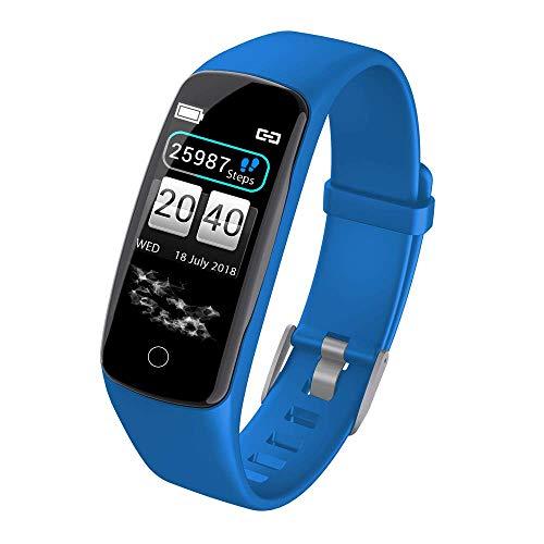PXX Horloges - Bluetooth Fitness Tracker, Smartwatch Waterdichte Fitness Polsband met Bloeddruk Hartslagmeter Kleur Stappenteller Stopwatch Alarm Klok Horloge B