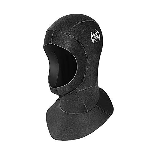 pandawoods Wetsuit Hood 3mm Thermal Neoprene Diving Hood Wetsuit Hat Cap with Flow Vent