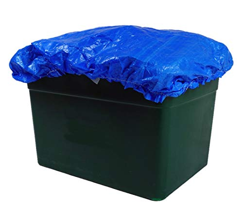 BOXHAT - BLUE or GREEN Recycling Box Cover - Laminated WATERPROOF Kerbside Recycling Lid - Elastic Sealed & Tie (Blue)