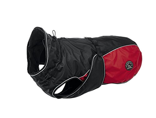 HUNTER UPPSALA ALLROUNDER Hundemantel, 2-in-1, herausknöpfbares Fleece-Futter, 40, anthrazit/rot