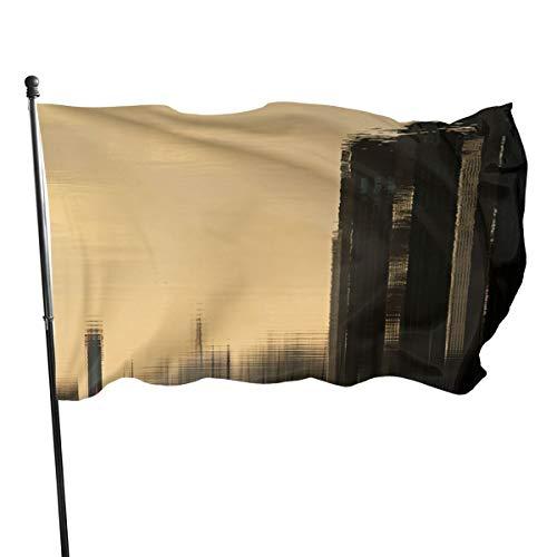 N/A Vlag 3x5 FtReflection Laagraven Utrecht, Enkelzijdige Tuinvlaggen voor Binnen Buiten Gebruik UV Beschermd