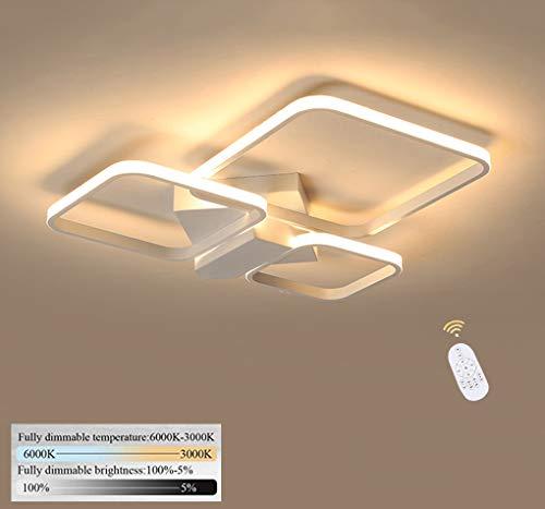 LED slaapkamer lamp modern 3 vlammen dimbaar plafondlamp creatieve ruimte design plafondlamp plafondverlichting metaal afstandsbediening woonkamer hanglamp slaapkamer kantoor huisverlichting 64W