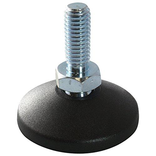 Preisvergleich Produktbild 10 x MINI Gelenkfuß Gelenkstellfuß Stellfuß Maschinenfuß 30 PA GewindestangeSpindel M8x20mm Stahl
