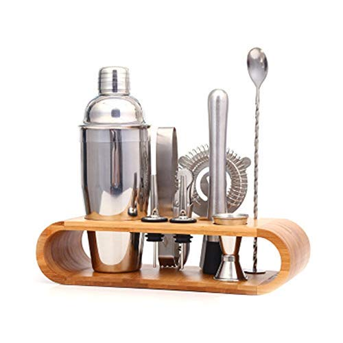 Boston Double Shaker Bar Outils sans BPA en Acier Inoxydable 304 Haut De Gamme 9 Pièces Cocktail Shakers Set Collection Bartender Muddler Kit
