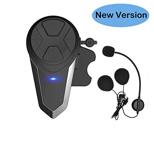 THOKWOK Motorcycle Bluetooth Headset,BT-S3 1000m Helmet Headphones for Snowmobile Motorcycle Bluetooth Communication System Ski Intercom Up to 3 Riders(Pack 1)