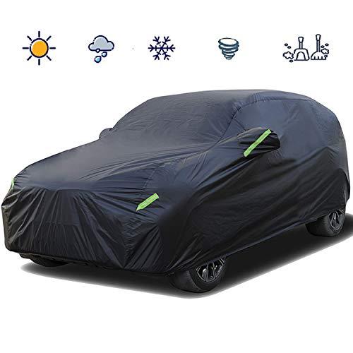 Telo Copriauto SUV Copriauto con Strisce Riflettenti 210T Impermeabile Anti-Polvere e Anti-Uv / Gelo / Neve / Freddo / Polvere / Pioggia / Sole