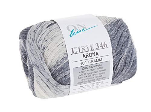 Online Wolle Garn Trend-Collection Linie 346 Arona 100g Nadelstärke 5-5,5 Mehrfarbig Farbe 136