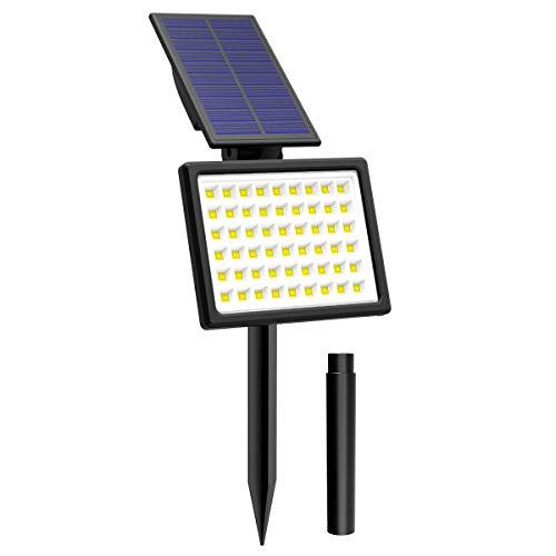 T-SUN 54 LED Luci Solari da Esterno, Wireless Lampada Solare da Giardino con 2 Livelli di Luminosità, 6000K, IP65 impermeabile Lampada Solare da Sicurezza per Giardino, Sentiero, Prato. (1 Pezzi)