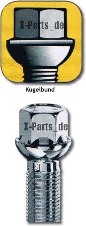 X-Parts Radschraube Schraube M15x1,25 Kugel R14 Schaftlänge 32mm M1525KU32