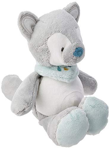 NATTOU Mini Doudou Loup, Compagnon de naissance, Hauteur : 18 cm, Tim et Tiloo, Gris, 498036