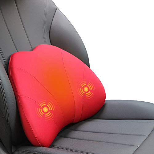 Rugleuning, auto, met rug, massage, verwarming, zitkussen, ergonomisch, vulling van traagschuim, verlicht pijn, voor auto's, kantoren, rolstoelen.