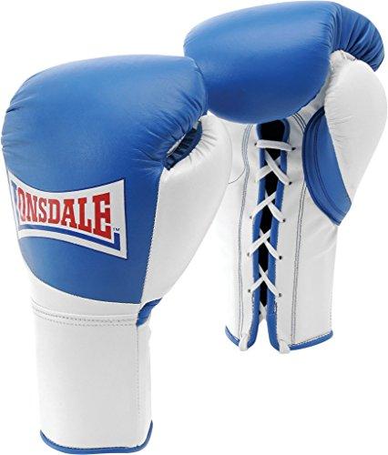 Lonsdale Erwachsene Ultimate Mkii Pro Fight Contest Handschuh Split Thumb, blau/Weiß, M