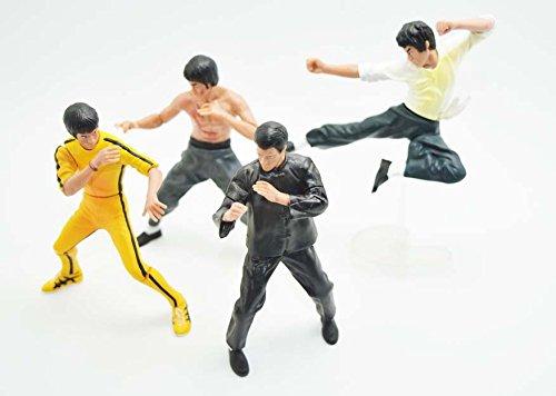 Palmetto Bruce Lee - Set of 4pcs - Hard Plastic Resin Figurine - Kong Fu Master