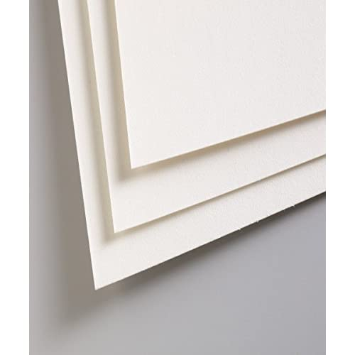 Clairefontaine 96010C Confezione Carta Pastelmat, 50 x 70 cm, 5 Fogli, Bianco