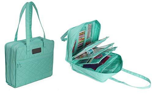Earthwise Arts & Crafts Storage Bag with 16 Compartments Crafters Companion...
