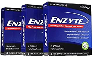 Enzyte® Natural Male Enhancement Supplement with Asian Ginseng, Ginkgo Biloba, Grape Seed Extract, Horny Goat Weed - 90 Capsules